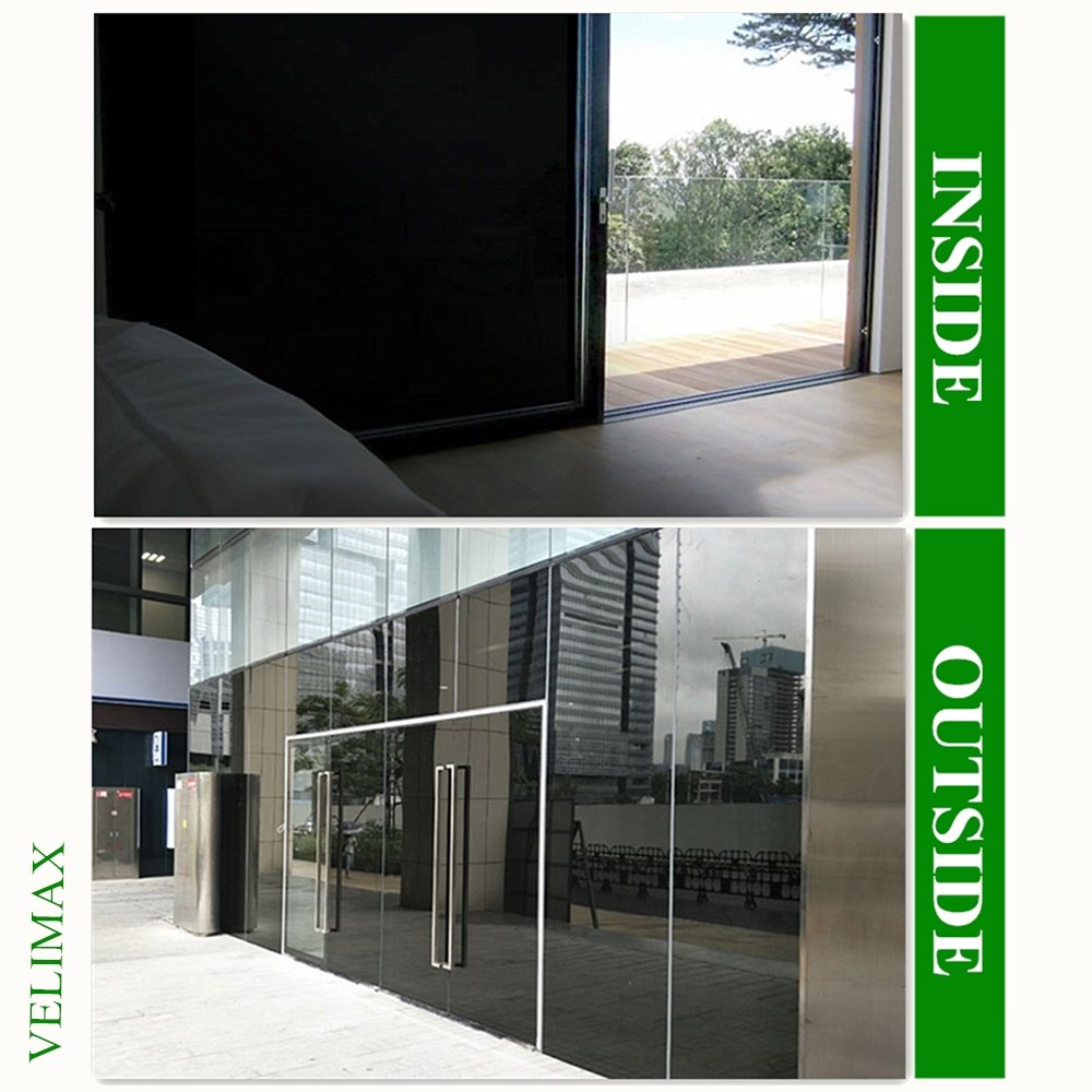 Velimax Static Cling Blackout Window Film Privacy Window Tint Black Stickers 100% Light Blocking Room Darkening No Glue 35.4'' x 78.7''(90CM by 200CM) by Velimax (Image #4)
