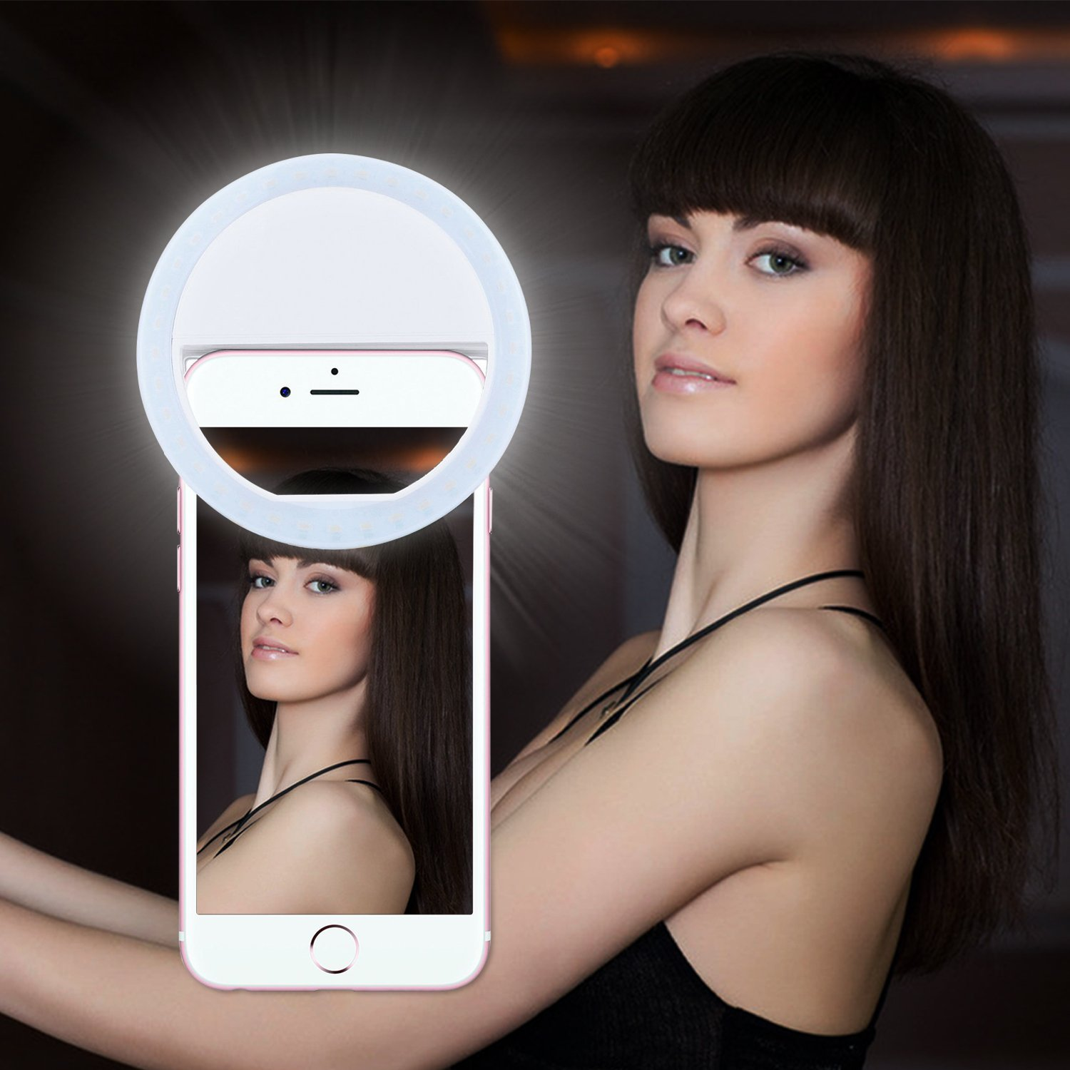 ring light for iphone 7 plus. amazon.com: selfie light,lavince ring light for iphone 6 plus/6s/6/5s/5/4s,samsung galaxy s7 edge/s7/s6 edge/s6/s5/s4/s3, motorola and all the smart iphone 7 plus y