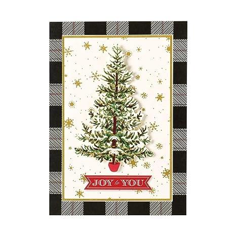 Anna Griffin Christmas Cards.Amazon Com Anna Griffin Christmas Handmade Holiday Cards Boxed Set