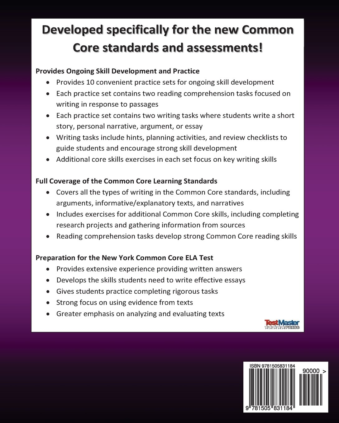 com new york test prep reading and writing common core com new york test prep reading and writing common core workbook grade 6 preparation for the new york common core ela test 9781505831184 test