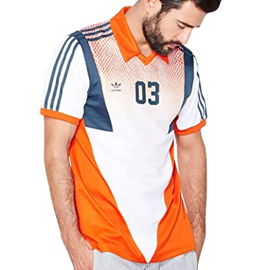 Amazon.com  adidas Originals Mens Football Jersey V Neck Top Orange ... 9388fb824