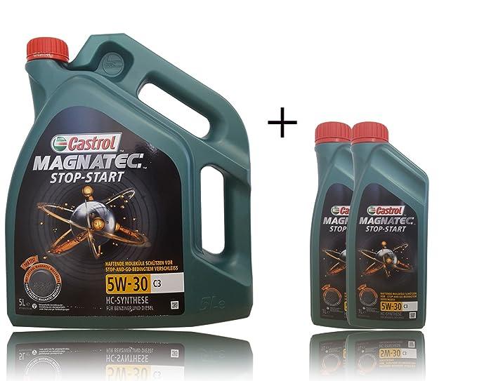 Castrol - Aceite para Motor Magnatec SAE 5W-30 C3: Amazon.es: Coche y moto