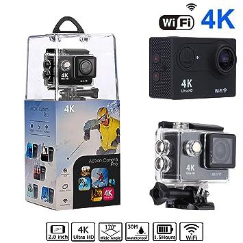 Bekhic V90 4K HD Wifi Sports Action Camera Ultra 30m Waterpr...