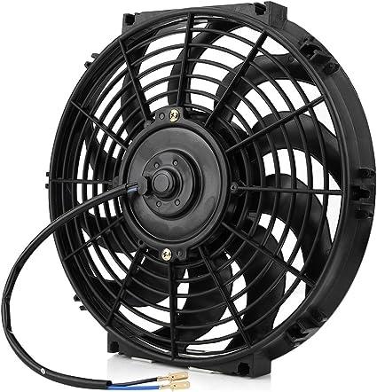 Ventilador de enfriamiento de coche, 12V Ventilador de Enfriamiento para Autom¨®vil, Ventilador de Enfriamiento Universal Universal de con kit de montaje, Di¨¢metro: 12 pulgadas: Amazon.es: Coche y moto