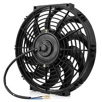 Ventilador de 12/pulgadas universal 12/V 80/W Delgado Electric Engine Ventilador con ventilador de Kit de montaje para la mayor/ía de coches