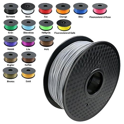 150 opinioni per TIANSE Argento filamento stampante 3d, 1,75 mm, precisione dimensionale +/- 0,03