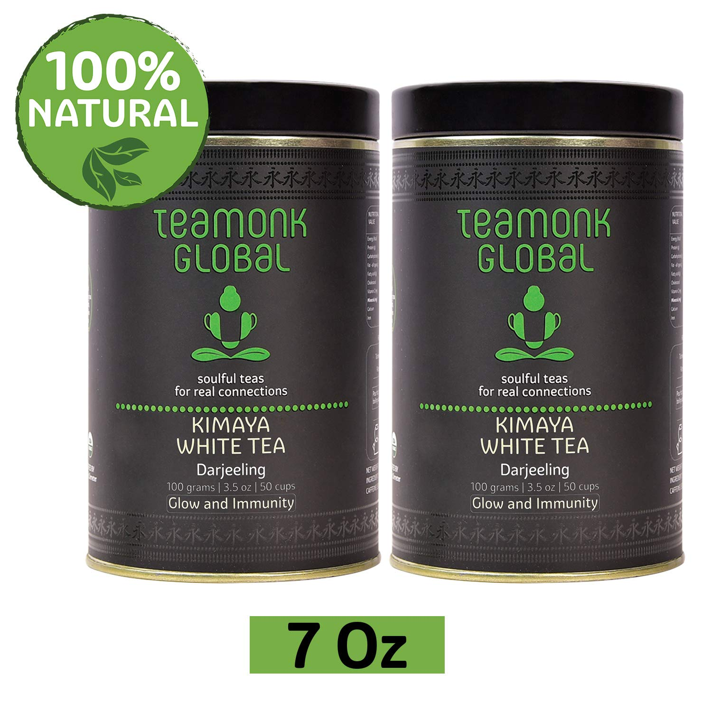 Darjeeling Kimaya White Tea, 7 Oz - Pack of 2 (3.5oz each) | 100% Natural Loose Leaf Tea from Himalayas