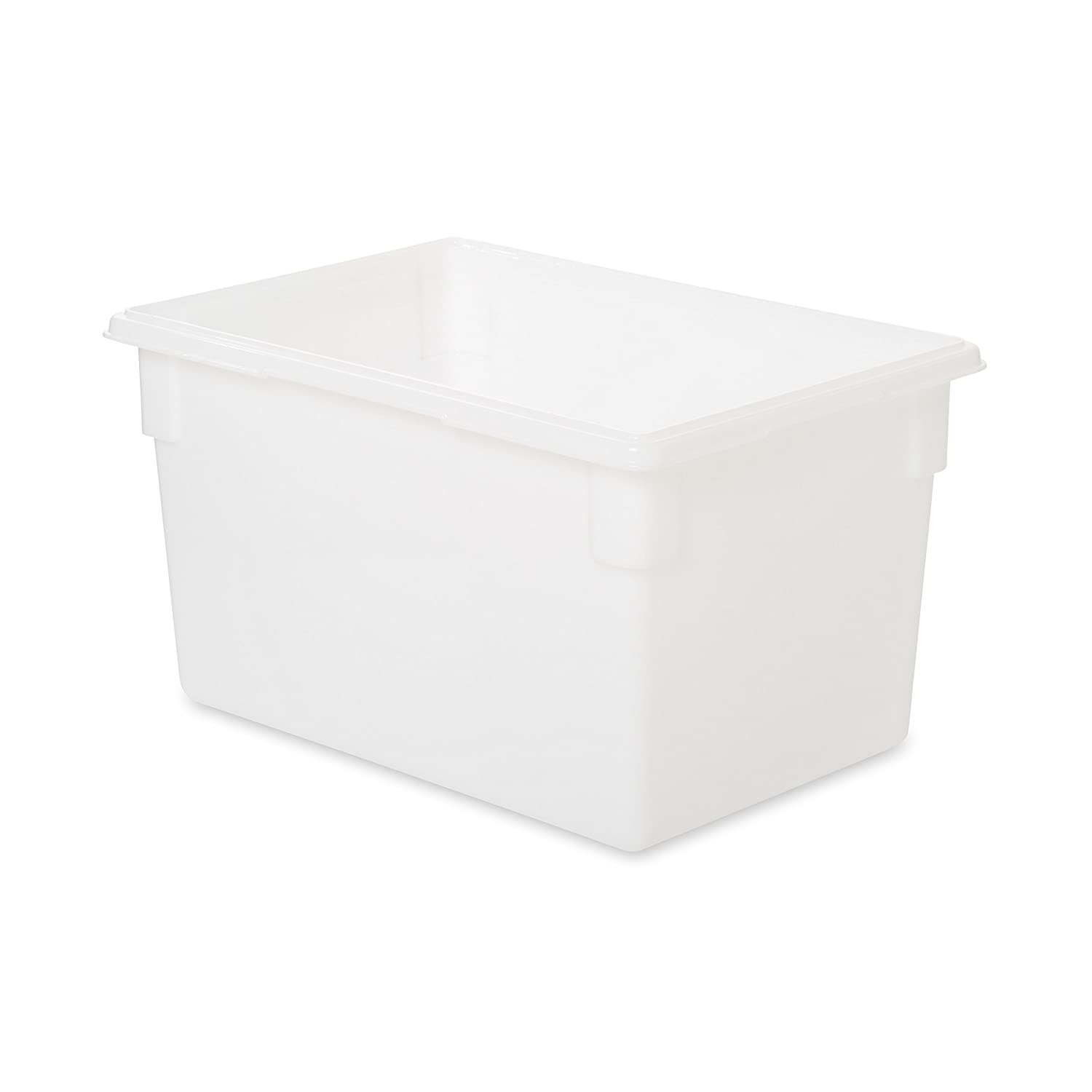 Rubbermaid Commercial Products Food Storage Box/Tote for Restaurant/Kitchen/Cafeteria, 21.5 Gallon, White (FG350100WHT)