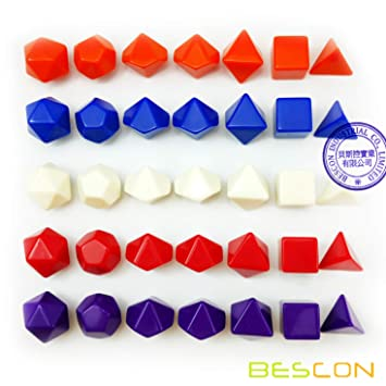amazon bescon blank polyhedral rpg dice 35pcs assorted colors set