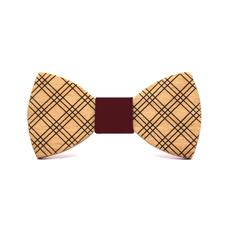 Territorial Pajarita de madera Casual. Colección de moda hombre: Confeccionada en España Wood. Línea boda y eventos. Regalo elegante y… Gtur1
