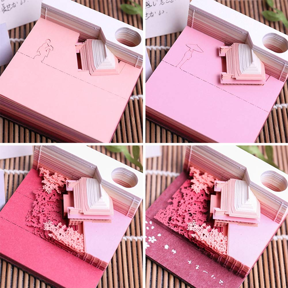 3D Sticky Notes adesivi carte portatile Giappone carta arte costruzione opere dartigianato artigianale creativo convenienza