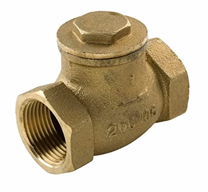 Everflow Supplies 210T114-NL IPS Threaded Brass Swing Check Valve 1-1/4  Inch - Lead Free