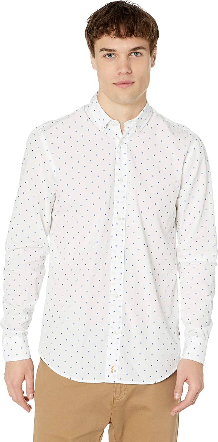 Scotch and Soda Mens Classic Longsleeve Shirt in Cotton//Elastane Quality Regular Fit Long Sleeve Casual Shirt