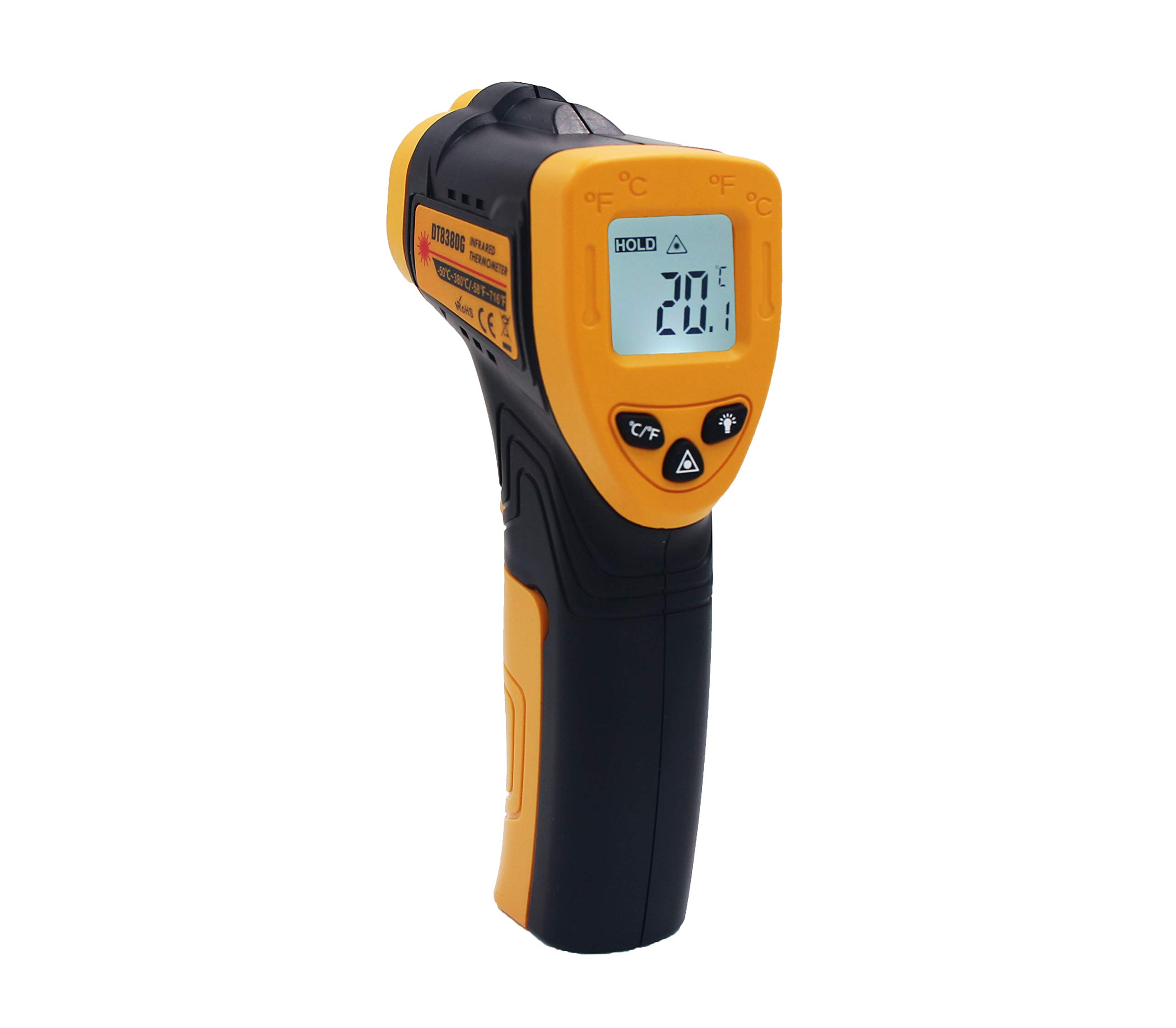 DT3830G Non-Contact Digital Laser Infrared Thermometer Temperature Gun -58℉~ 716℉ (-50℃ ~ 380℃), Battery Include