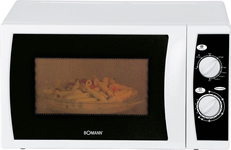 Bomann MWG 2237 CB microondas, 700 W, 20 litros, Color blanco