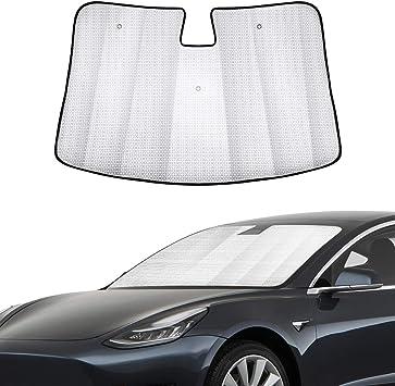 Windshield Sunshade Heat Shield Sun Visor Mat for Tesla Model 3 Z4Y7