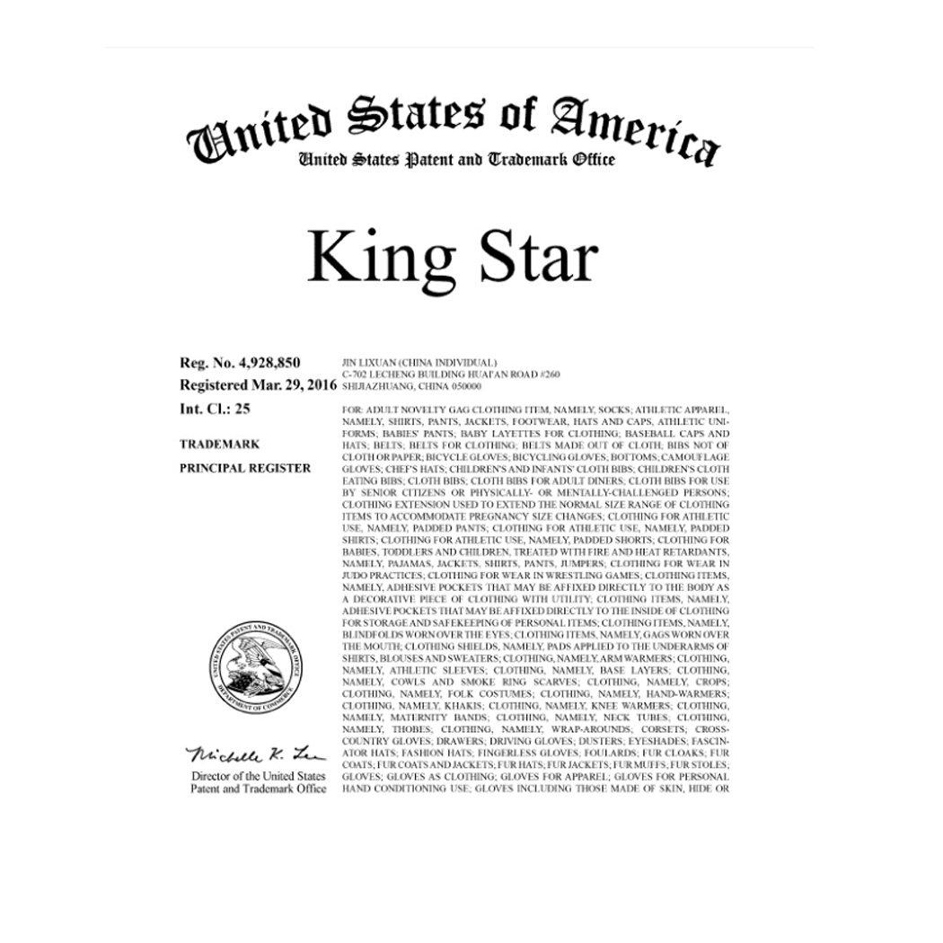King Star Men Solid Flat Bill Hip Hop Snapback Baseball Cap Panda-Grey