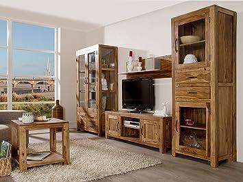 Delicieux Massivum Palison Wohnwand, Holz, Natur, 42 X 100 X 175 Cm