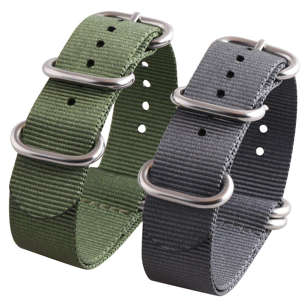 BINSSAW ACCESSORY ユニセックスアダルト 24mm Green,gray Green,gray 24mm B01N6S26YR