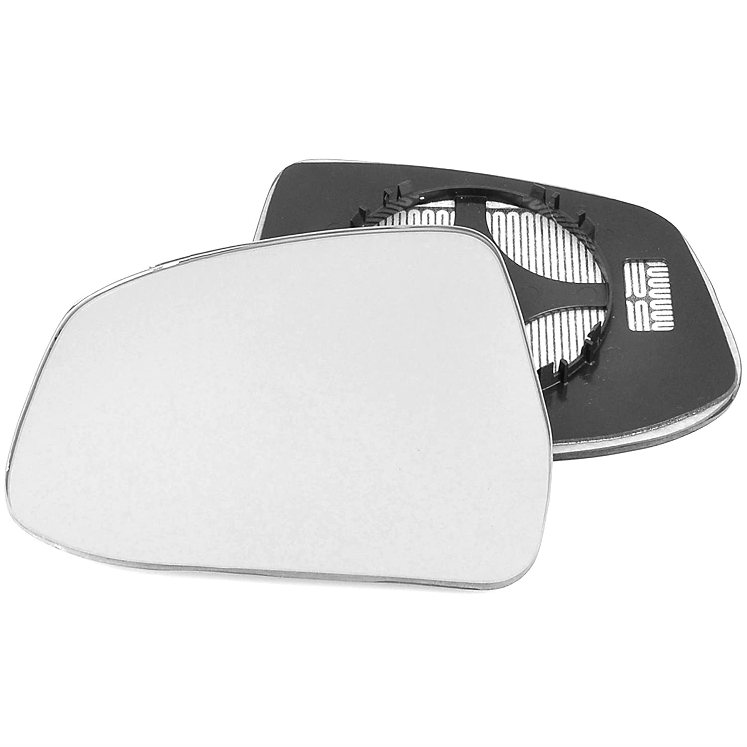 Passenger left hand side Heated wing door Silver mirror glass with backing plate #C-SHY/L-FDFS08 [Clip On]
