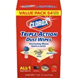 Clorox Triple Action Dust Wipes, 54 Count Box