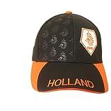 Holland Netherlands Black Orange KNVB Logo On Brim FIFA Soccer World Cup Embossed Hat Cap .. New - WC .. High Quality .. New