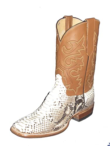 Snakeskin Square toe Python western Boots