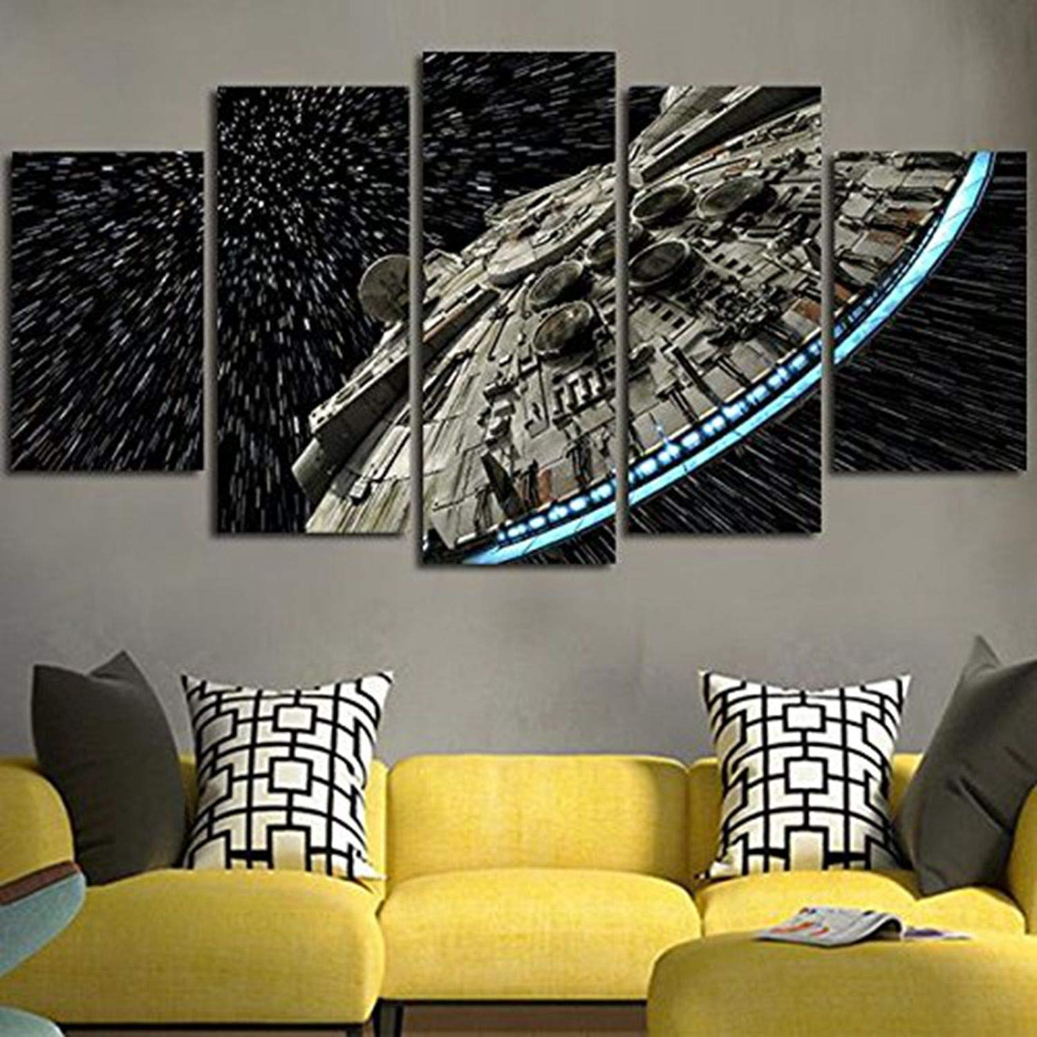 JESC Wall Decor Canvas Picture Batman Poster 5 Pieces Art Home Framed HD Printed Canvas Painting (30x40cmx2,30x60cmx2,30x80cmx1)