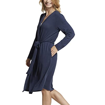 Yummie Women's Slub Knit Midi Lounge Robe at Women's Clothing store