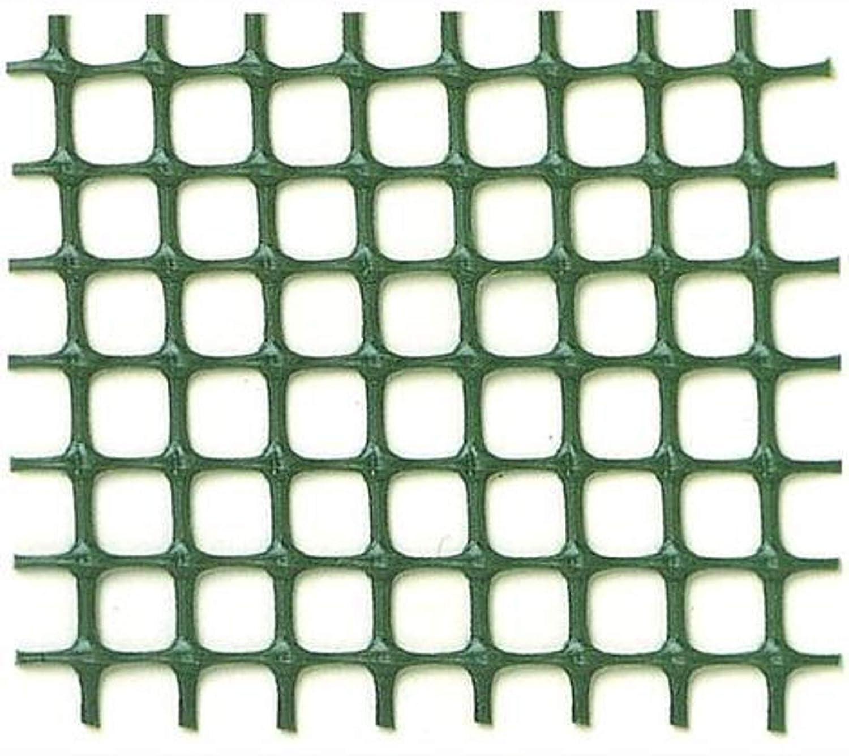 Maglia mm 5x5, Verde Rete plastica per balconi e recinzioni Verde Altezza 100 cm in Rotoli da 50 mt Vari Colori e Maglie