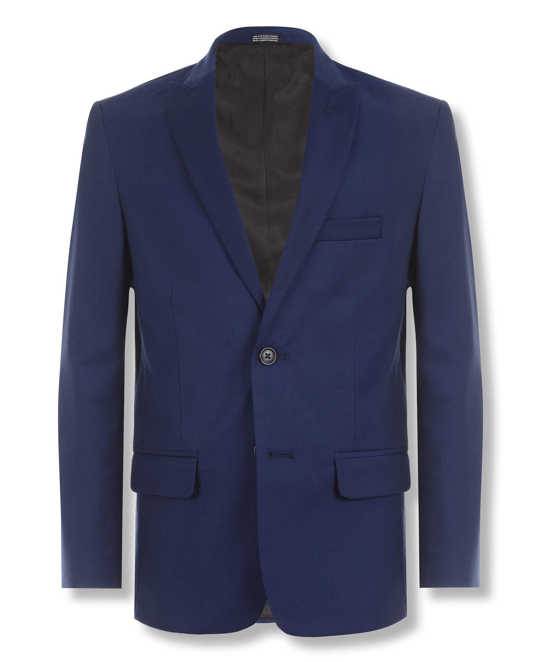 Calvin Klein Boys' Solid Blazer Jacket, Infinite Blue, 20 by Calvin Klein