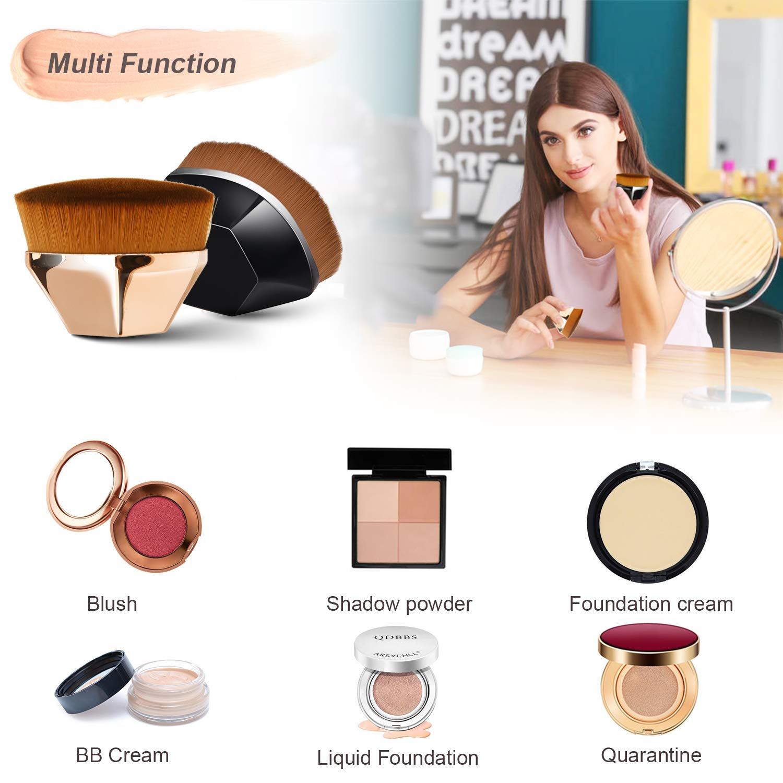 Foundation Makeup Brush, Endoto Kabuki Face Brush Flat Top High-Density Multifunctional for Flawless Powder, Blending Liquid or Cream Cosmetics with Portable Case: Beauty