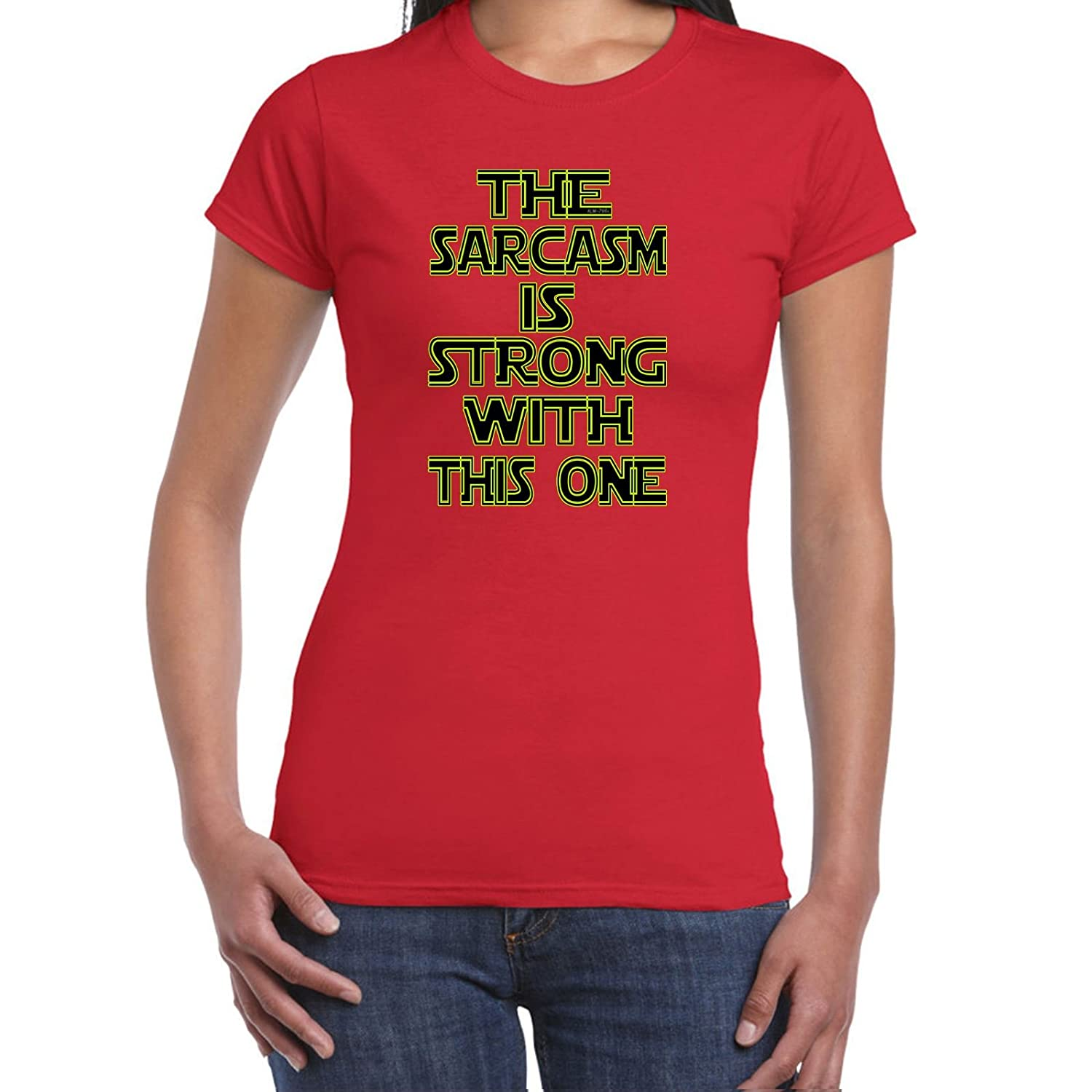 Womens Funny T Shirts-Sarcasm is Strong Star Wars Inspired-tshirt-Funny Gift ALM-786t