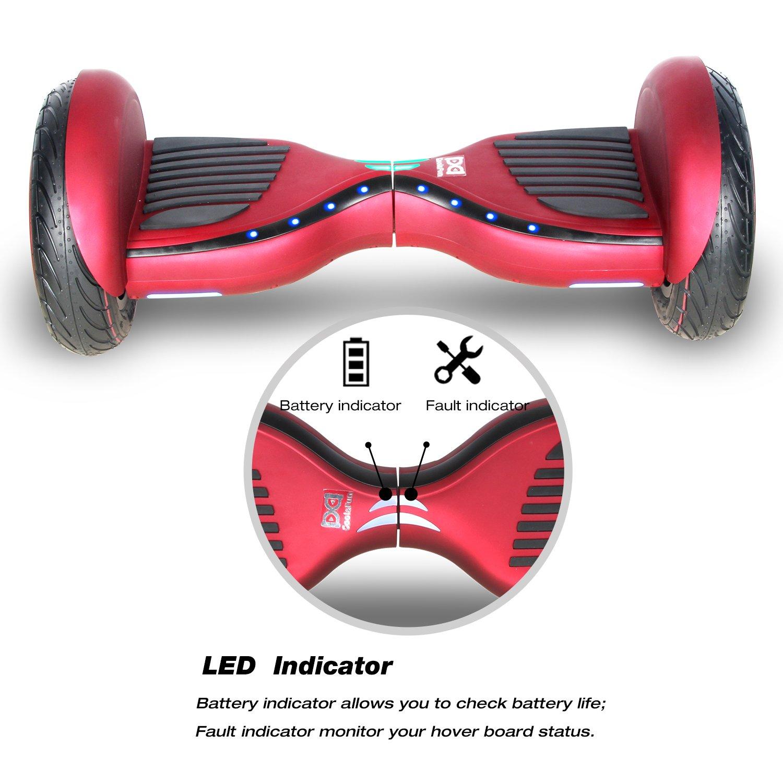 Cool&Fun Hover Board Patinete Eléctrico Scooter Monopatín Eléctrico Auto-Equilibrio Patín de 10