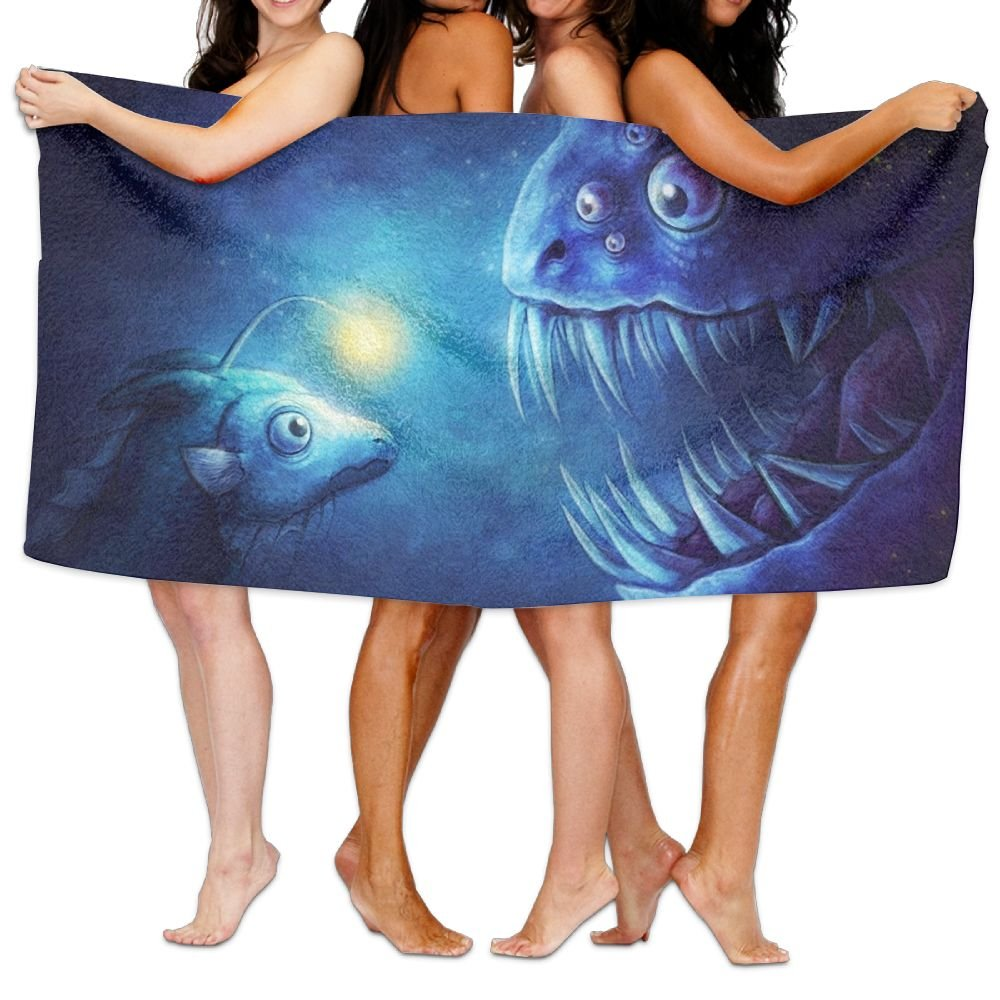 PengMin Moon Blue Animal Premium 100% Polyester Large Bath Towel, Pool And Bath Towel (80'' X 130'') Natural, Soft, Quick Drying