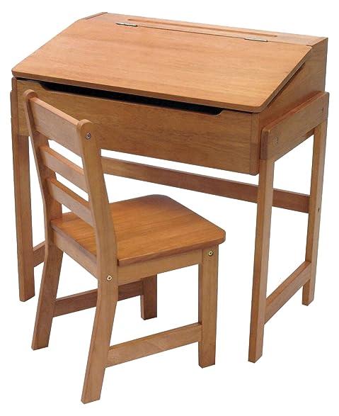 Lipper International 564P Childs Slanted Top Desk Chair Pecan Finish