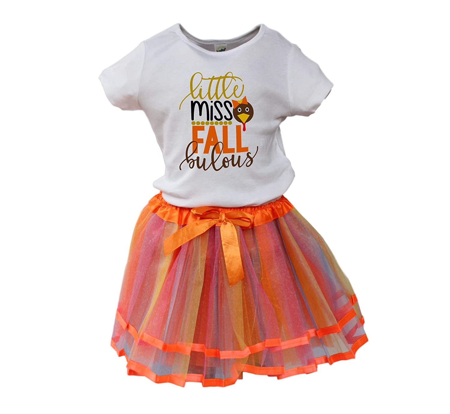 Girl Fall Tutu Girl Thanksgiving outfit Girl winter outfit Turkey girl tutu