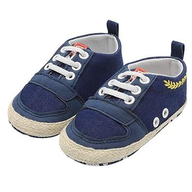 b348e7e02146 Saingace Sneaker for Baby, Toddler Kids Boys Girls Canvas Anti-Slip Lace-up