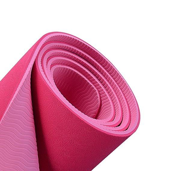 Amazon.com : ZWW electronic Bodhi Leaf Texture Yoga Mat ...