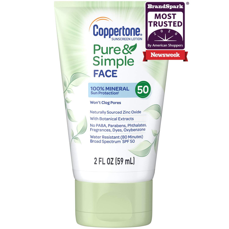 Coppertone Pure & Simple - Pure & Simple Face SPF 50 Lotion 2 Oz (CT57975)