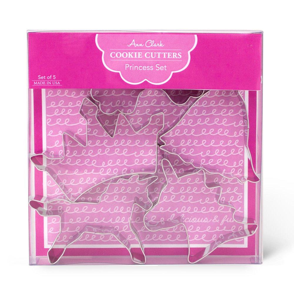 Fairytale Princess Cookie Cutters - 5 Piece Boxed Set - Crown, Dress, Rainbow, Unicorn, Unicorn Head - Ann Clark - US Tin Plated Steel by Ann Clark Cookie Cutters (Image #3)