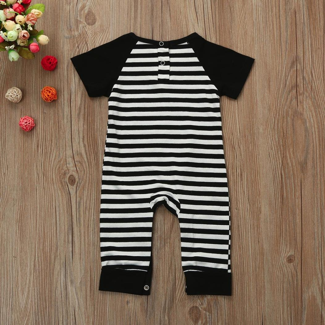 WARMSHOP Newborn Boys Girls Stripe Short Sleeve with Knee Protector Romper 100/% Cotton Baby Playwear Jumpsuit 0-24 Months