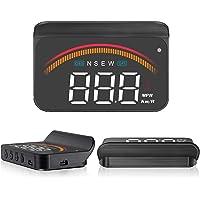 "Car Head Up Display,ACECAR 3.5"" Upgraded Car Universal Dual Mode HUD OBD II/GPS Interface Speedometer Compass Vehicle…"