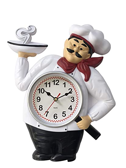 Terrific Chef Wall Clock 12 X 10 Kitchen Decor Home Decor Home Interior And Landscaping Transignezvosmurscom