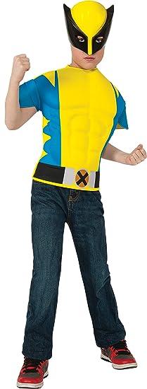 Kit disfraz de Lobezno musculoso para niño - 5-7 años: Amazon.es ...