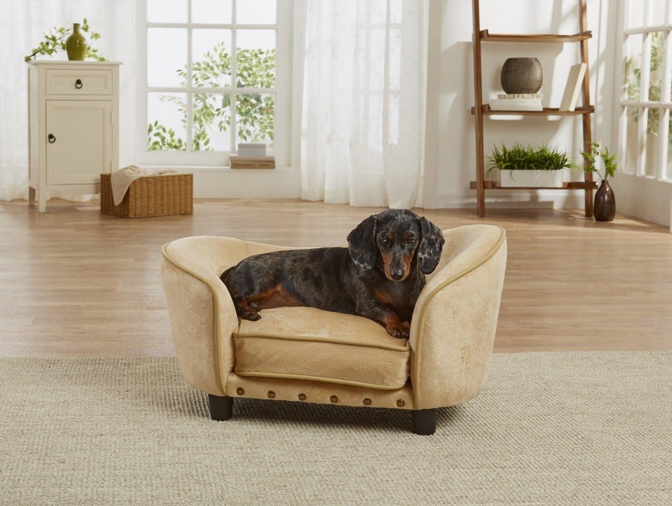 Enchanted Home Pet Caramel Ultra Plush Snuggle Pet Sofa