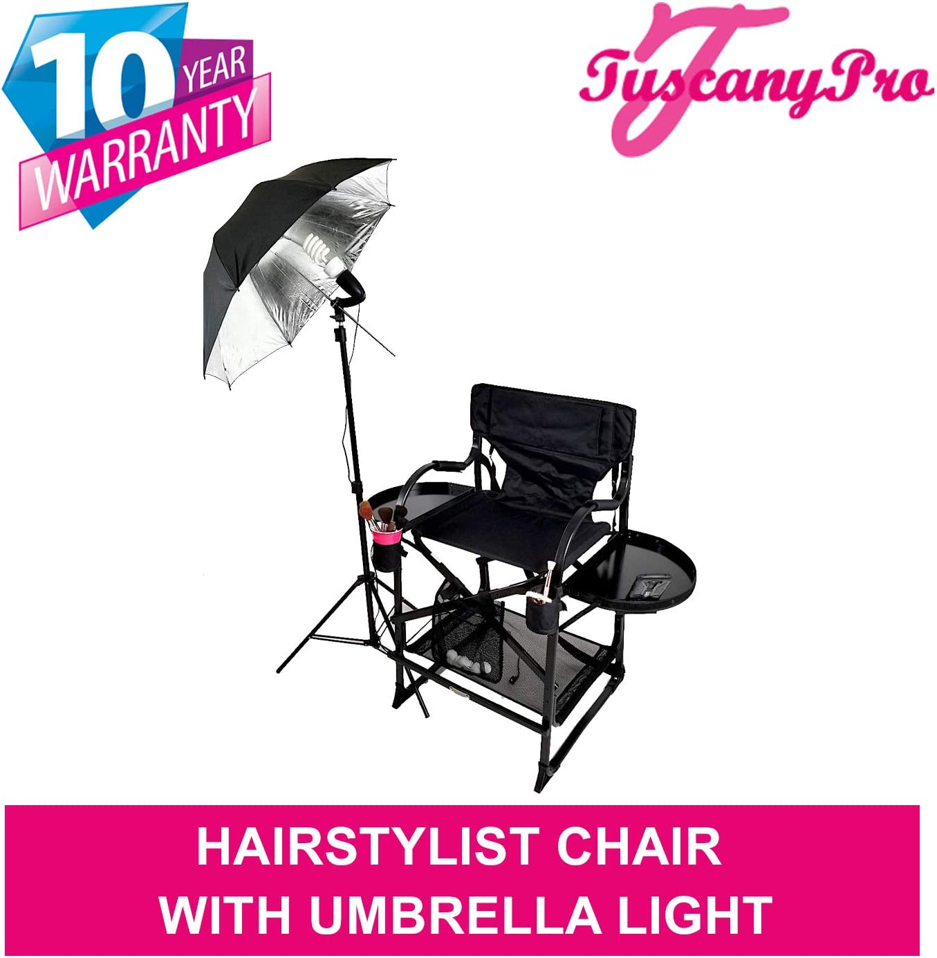 PRESALE—- MU2R Tuscany PRO Hairstylist Chair w Light-5 Years Warranty Product-25 Seat Height-THIS IS THE MOST ELECTED CHAIR BY HAIRSTYLISTS