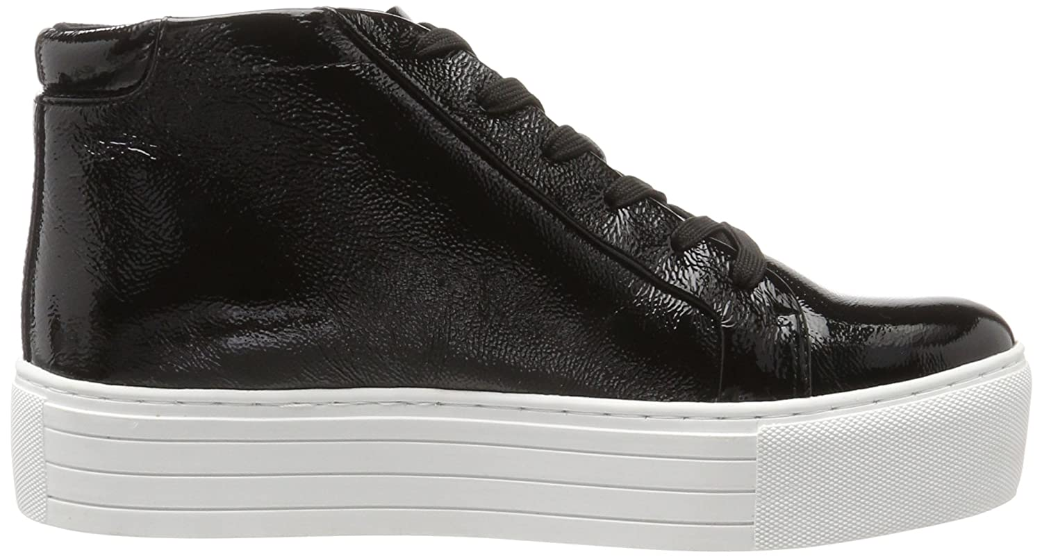 Kenneth Cole New York Women's Janette High Top Lace up Platform Patent Fashion Sneaker B071XXY6MY 7.5 B(M) US|Black