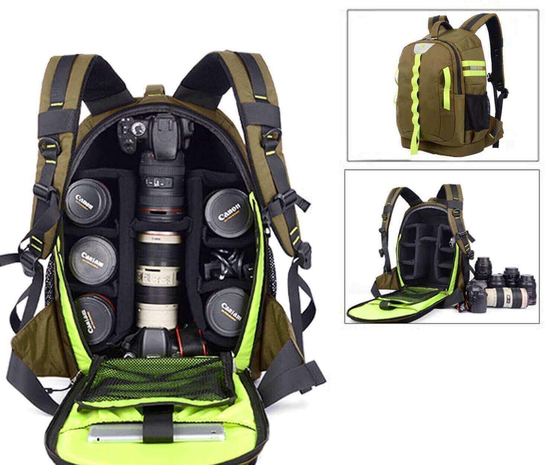 Abonnyc DRLBP-CZ Waterproof Anti-shock Backpack for DSLR and SLR Cameras (Green) by Abonnyc
