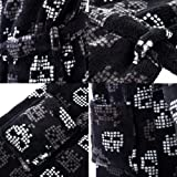 home swee Shawl Collar Fleece Skull Printed